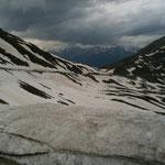 Schnee am Penserjoch