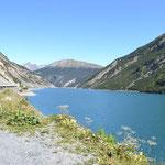 Livigno - Stausee kurz hinter dem Tunnel