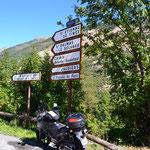 Im Tinéetal am südl. Einstieg zum Col de la Bonette