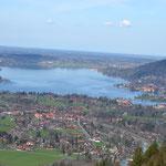Blick vom Wallberg auf den Tegernsee