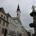 Am historischen Marktplatz von Steyr.