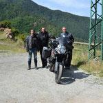 Nach sehr flotter Fahrt über den Col de Turini