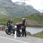 Auf der Berninapasshöhe, 2.328m.