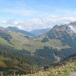 Blick vom Furkajoch ins Tal