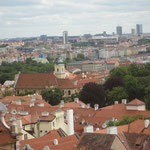 Blick von der Burg auf Prag