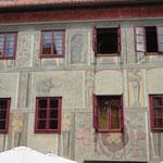 Bemalte Häuserfassade in Krumau