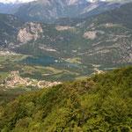 Fahrt vom Monte Bondone Richtung Süden - lago Toblino