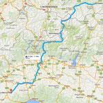 Anfahrt über Livigno, Berninapass, Comersee