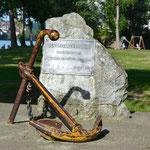 Gedenkstein für die Opfer der Donau