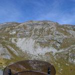 Blick zur Straße zum Col dei Morti