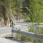 Kurvige Straße durch das Valvestino