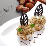 tortine di castagne e meringa