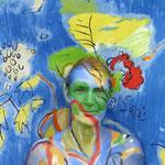 Malerei - bunt2: Marga Golz; Foto: Günter Ruf