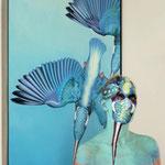 Malerei - Eisvögel2: Marga Golz; Foto: Günter Ruf