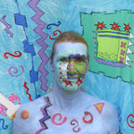 Malerei - Clown: Marga Golz; Foto: Günter Ruf