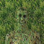 Malerei - Gras: Marga Golz; Foto: Günter Ruf