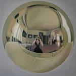 Kugel, Ölfarbe, a. LW, 50 x 70 cm