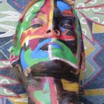 Malerei - Inka2: Marga Golz; Foto: Günter Ruf