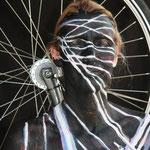 Malerei - Fahrrad2: Marga Golz; Foto: Günter Ruf