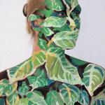 Malerei - Lorbeerhecke3: Marga Golz; Foto: Günter Ruf