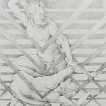 Zeichnung nach Dürer, Kain & Abel, Bleistift a. Papier, 59 x 42 cm