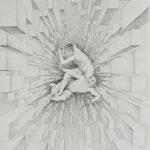 Zeichnung nach Bartolomeo, Kain & Abel, Bleistift a. Papier, 59 x 42 cm