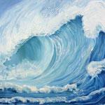 Welle, Ölfarbe a. LW,  140 x 100 cm