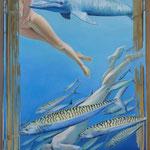 The deep blue 1, Ölfarbe a. LW, 140 x 100 cm