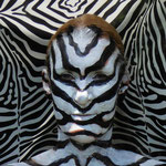 Malerei - Zebra: Marga Golz; Foto: Günter Ruf