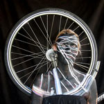 Malerei - Fahrrad: Marga Golz; Foto: Günter Ruf