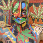 Malerei - Inka: Marga Golz; Foto: Günter Ruf