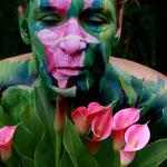 Malerei - Blütenstrauch3: Marga Golz; Foto: Günter Ruf