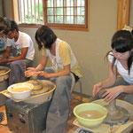 茶碗作りの体験にいきました。