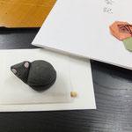 11月 手作り茶会④ お菓子「黒猫」