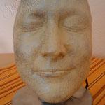 Abdruck vom Gesicht - auf Lampe
