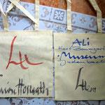 Taschen mit meinem Logo, handsigniert, zu 2 Euro