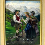 Szene in den Alpen
