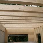 TISCHER Tischlerei - NUR-HOLZ-HAUS Holzbalkendecke