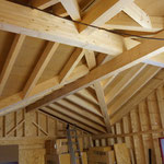 Dachstuhl mit 4 Kehlbalken - TISCHER Tischlerei + Holzbau