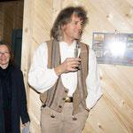 Ines und Bernd Tischer beim Richtfest - TISCHER Tischlerei + Holzbau