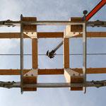 TISCHER Tischlerei - NUR-HOLZ-HAUS Dachstuhlaufbau