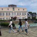 横浜水道記念館・噴水が出始めました。