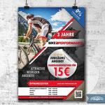Plakat-, Flyer-, Banner-Design - Bikeperformance Dresden