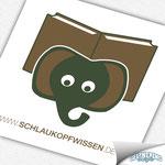 Logodesign für den Autorenblog Schlaukopfwissen