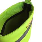 Handtasche limette-anthrazit