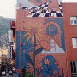 シチリア島タオルミナ・壁画