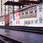 シチリア島パレルモ・工事囲い広告