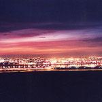 ボルドー・SAINTJAMES・窓からボルドー市内の夜景
