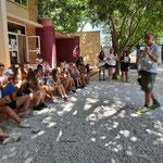 presentación del campamento