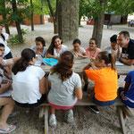 reunión por grupos